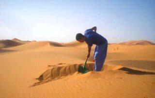 sand bath merzouga sahara desert