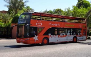marrakech city tour tourist bus
