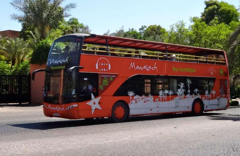 marrakech city tour tourist bus