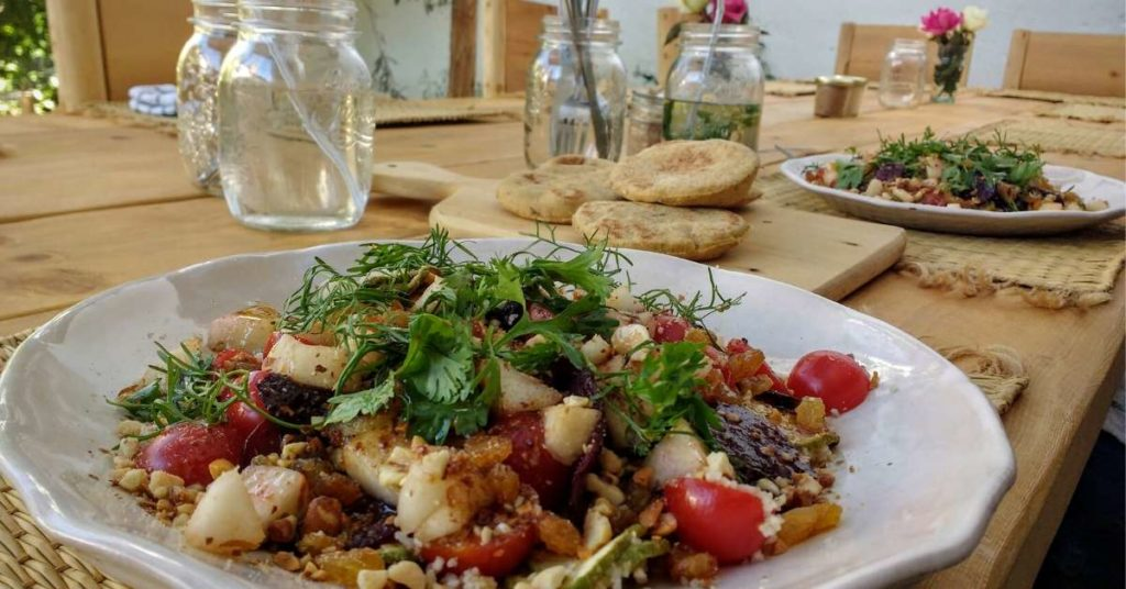 la famille restaurant salads rustic bread