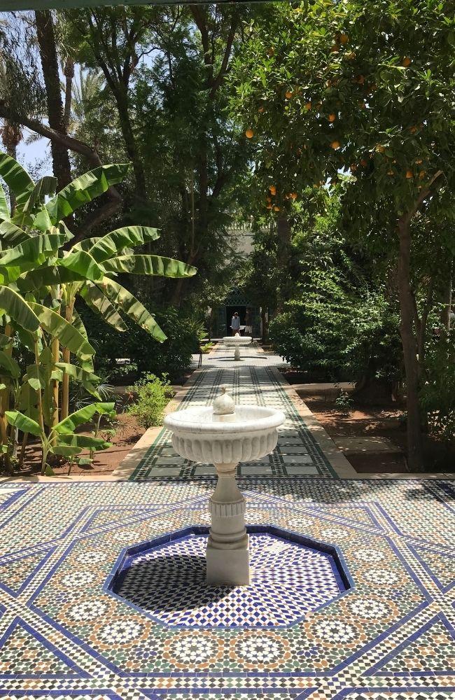 bahia palace garden