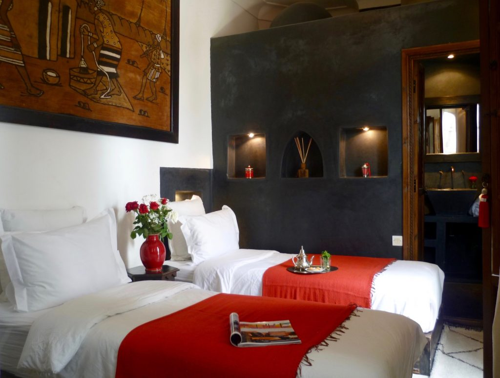 marrakech riad twin beds