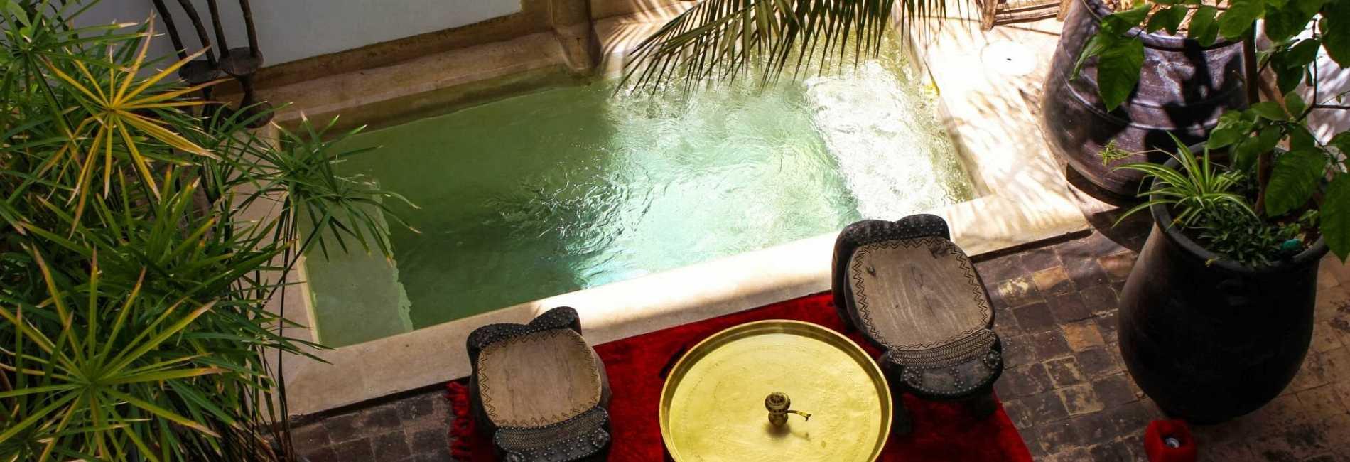 dipping pool marrakech riad