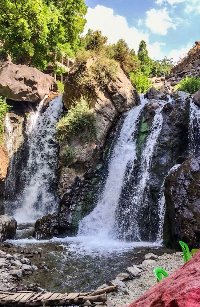 imlil waterfall cascade atlas mountains