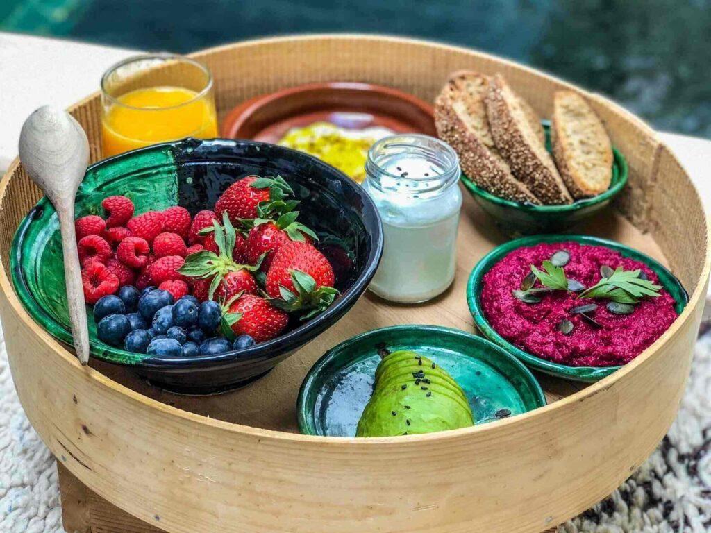 marrakech riad plant-based breakfast