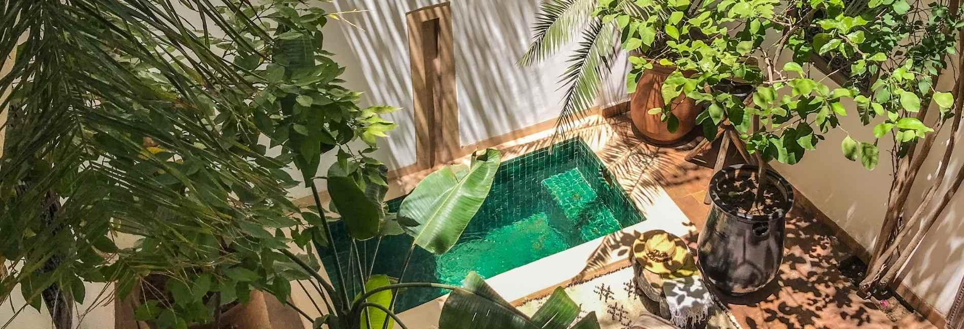 marrakech riad dipping pool