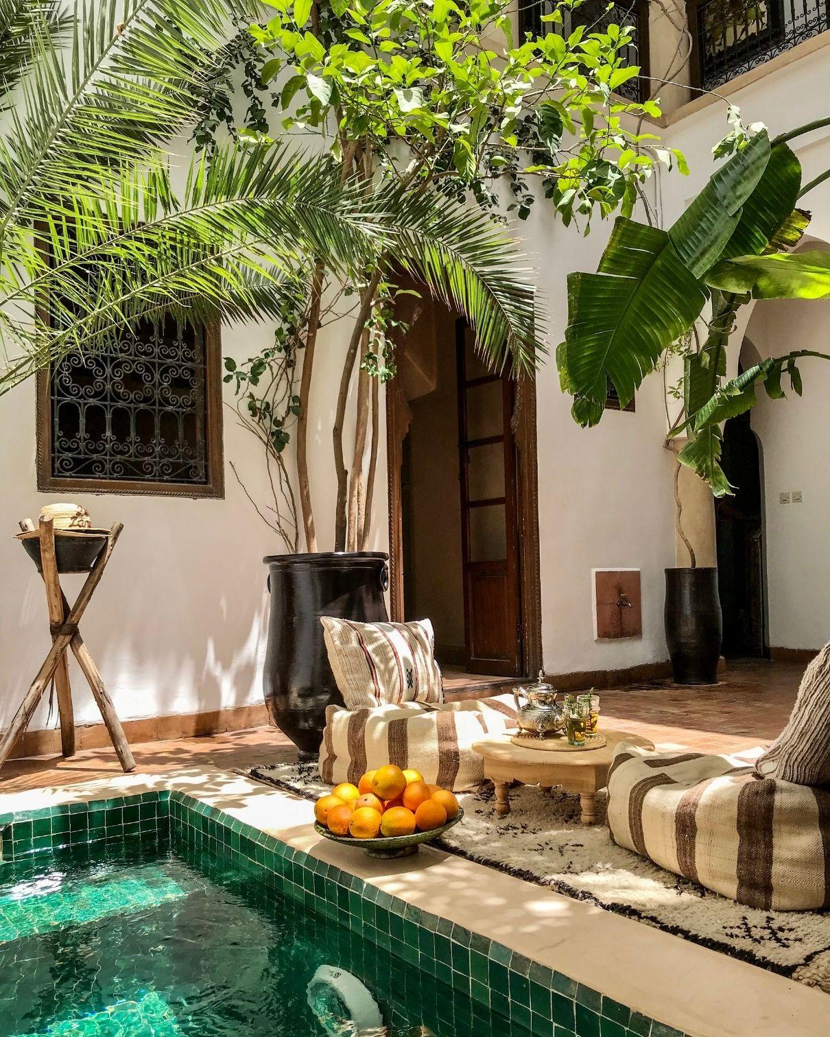 marrakech riad green zellij pool