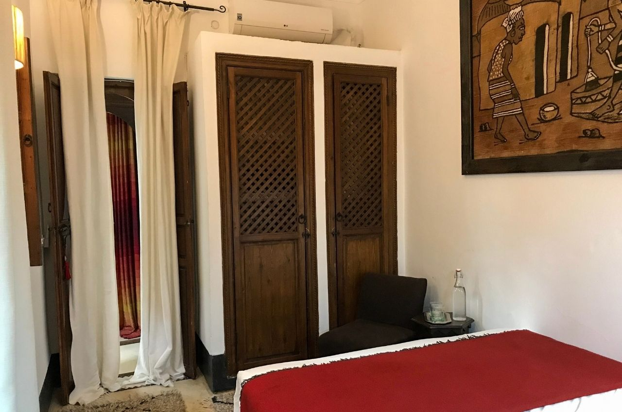 marrakech riad storage closets and air conditioning unit