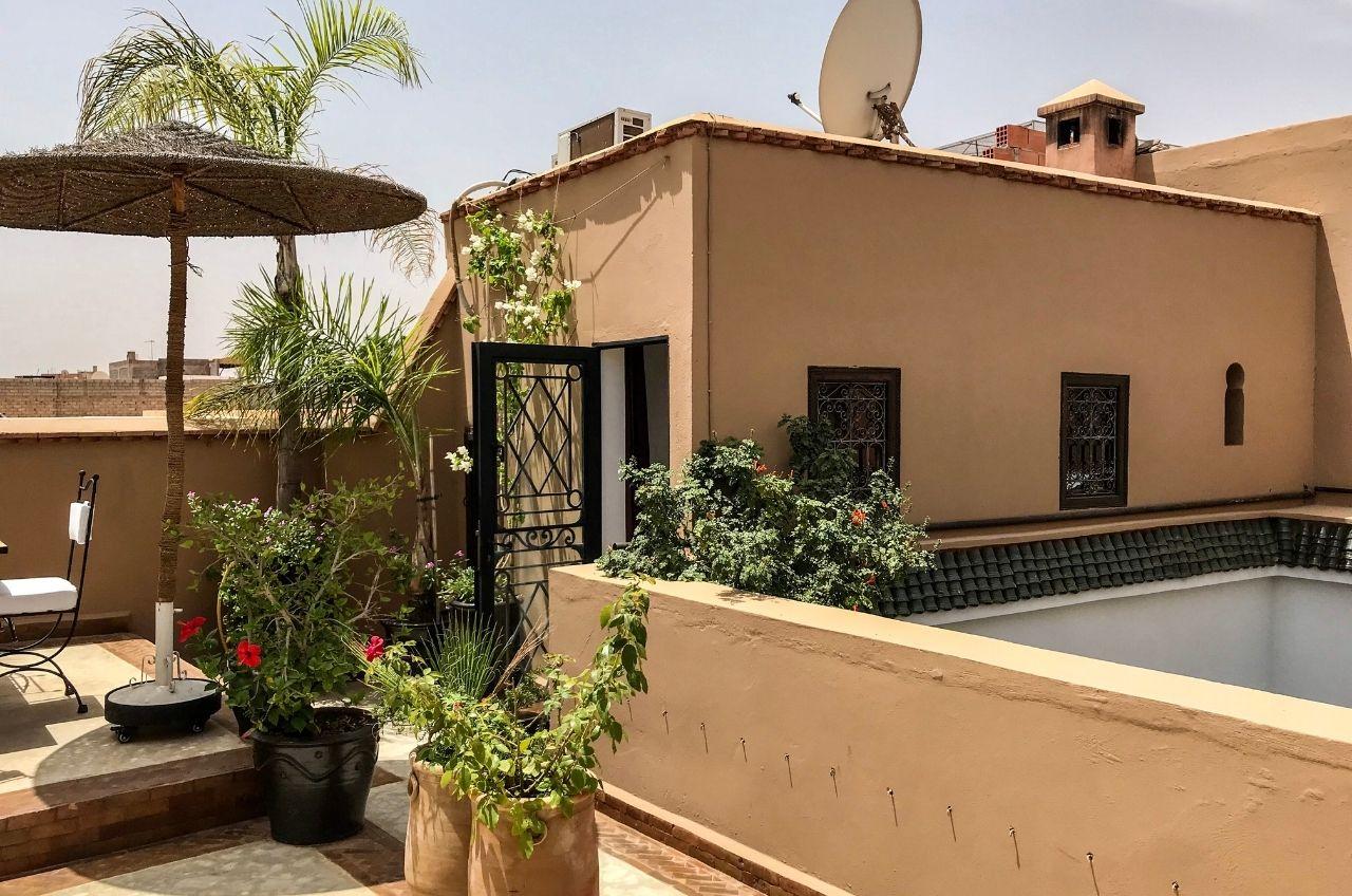 marrakesh riad rooftop cosy bedroom