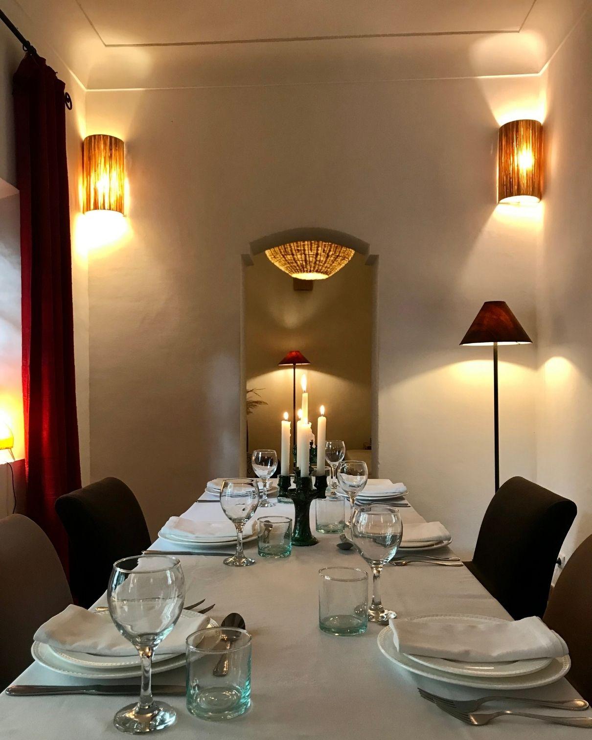 marrakech riad dinner party