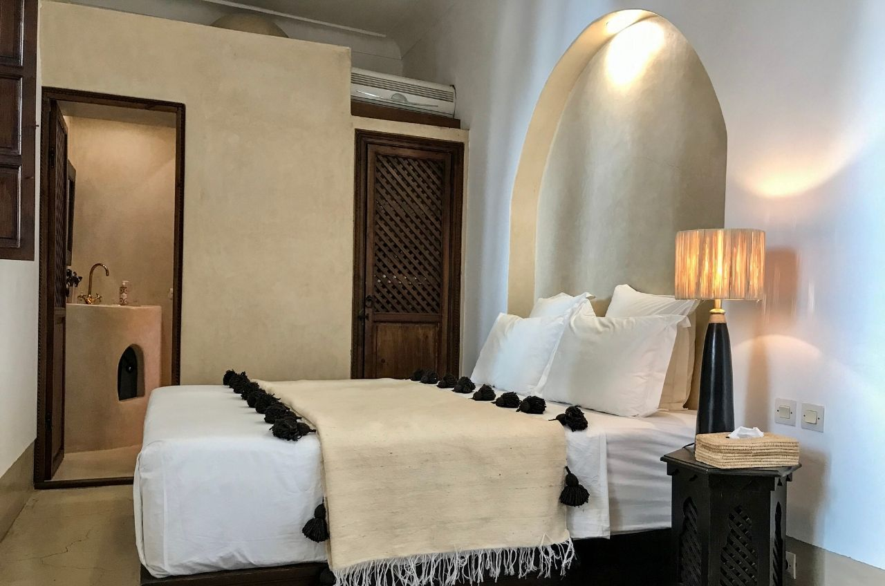 marrakesh riad pompom blanket